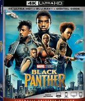 Black Panther (4K Ultra HD Blu-ray+Blu-ray+Digital) New Sealed Marvel