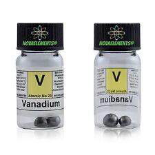 2g 99,99% Vanadium metall punkte element 23 V, in Glasampulle +farbige Label