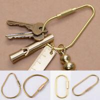 Unisex Outdoor Key Ring Keychain D Buckle Brass Car Key Ring Key Clip