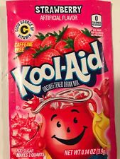 100 Kool Aid Drink Mix * STRAWBERRY powdered New! citrus popsicle flavor summer