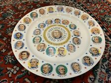 VINTAGE PRESIDENTS OF THE UNITED STATES LYNDON B. JOHNSON COMMEMORATIVE PLATE