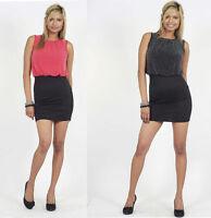 Ladies Womens Sexy Slim Short See-through Elegant  Occasion Dress Size S/M  M/L