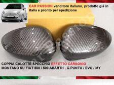 COPPIA CALOTTE SPECCHIO FIAT 500 CINQUECENTO ABARTH CARBON LOOK RETROVISORE
