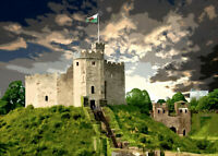 Cardiff Castle Wales Limited Print By Sarah Jane Holt