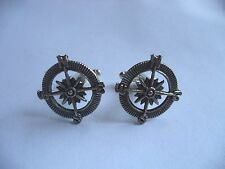 CL012 New Steampunk Victorian Gothic Handmade Nautical Compass Cufflinks *30