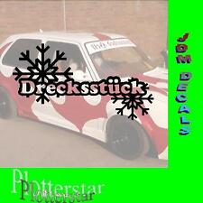 Drecksstück  Drift Winter JDM Sticker Aufkleber oem Shocker Winterauto
