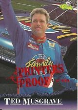 1996 96 Classic Ted Musgrave Printers Proof 1/498 Winston Cup Ford Roush