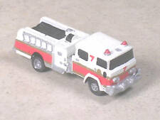 N Scale 1985 White Pierce Fire Pumper Truck #7