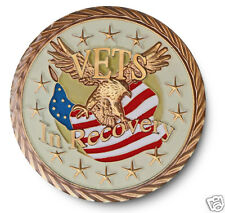 Vets In Recovery AA/NA 12 Step Recovery Program Enameled Coin/Medallion