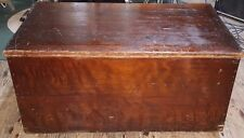 "Antique BIG 18"" X 40"" X 22"" Solid Cedar Wood Chest or Trunk OLDIE sj"