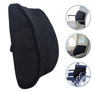 Memory Foam Lumbar Back Support Cushion Waist Pillow for Chair Office Home Car