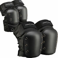 Pro-Tec Pads Street Elbow & Knee Set BLACK Size LARGE Protec Safety Skate Gear