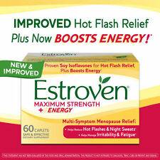 ESTROVEN Maximum Strength + Energy 60 Caplets *Multi-Symptom Menopause Relief*