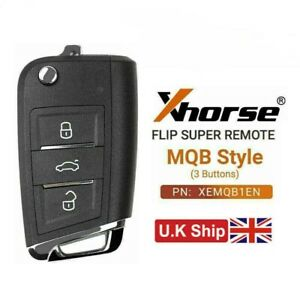 XHORSE Super Remote Key MQB Style 3 Buttons Built-in Super Chip XEMQB1EN for MAX
