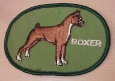 Boxer Dog Jacket - Vintage Embroidered Sewn Canine Puppy Green Pet Owner Patch
