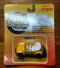 Maisto Speed wheels VW Volkswagen Convertible Yellow Diecast 1:64 Series IX