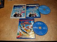 Frozen (Blu-ray, 2014) COLLECTOR'S EDITION, DISNEY! & Planes Fire Rescue (NICE)