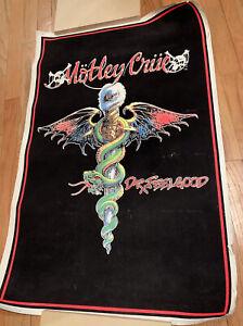 Vintage 1989 MOTLEY CRUE Dr. Feel Good BLACKLIGHT POSTER Flocked Funky Ent. Inc.