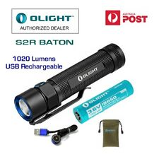 Olight S2R Baton 1020 lumen LED torch/Flashlight/ Battery/ magnetic charging cab