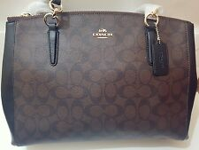 Signature 'C' Coach handbag with RRP £495 signature brown