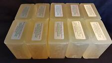 10 lb EXTRA VIRGIN OLIVE OIL Melt And Pour Pure Glycerin Soap Natural Wholesale