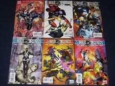 War Of Kings 1-6, War Of Kings Ascension 1-4, Warriors 1-2 & Saga, Marvel Comics