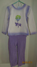 Baby Toddler 4T The Children's Place Purple White Outfit Long Sleeve Shirt Pants