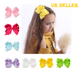 Cute Girls Big Bow Clip 6' inch Head clip bow UK Seller Same Day Dispatch