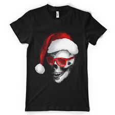 skull santa sunglasses rave gangster rap christmas tshirt  MENS t SHIRT ts5