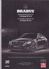 2010 BRABUS V12 based MERCEDES BENZ E-CLASS W212 Malaysian Brochure in English