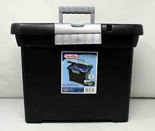 Sterilite Portable File Box Black