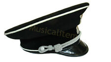 Military WWII WW2 German Elite Officer Hat SS2 Officer Visor Cap in All Size