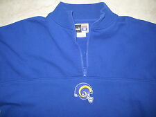 Vintage NFL LA LOS ANGELES RAMS PUMA Blue 1/3 Zip Sweater USED XL Extra Large