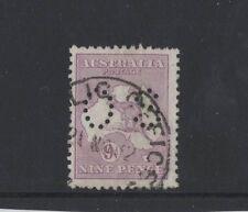 1916 Australia Roo 9d violet die Ii Sg O47 Os perfin third wmk fine used