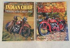 INDIAN SCOUT & CHIEF PAIR MOTORCYCLE HATFIELD MANUAL RESTORATION NEW BOOK 1ST ED