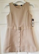 New Girls Chaps Approved School Wear Khaki Button Front Jumper Size L(6) Regular