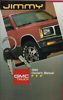 1992 GMC JIMMY Truck Owner Manual <brochure info>:Owner's,Service,Repair