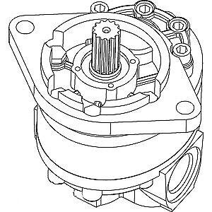D48950 D53690 Dozer Hydraulic Gear Pump Fits Case 310G 450 450B 450C 455 530 580
