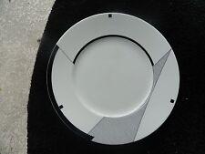 Christopher Stuart Angles Black Geometric Designs White Salad Plate
