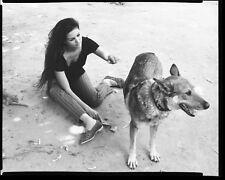 CLAUDIA CARDINALE Original Vintage THE LEOPARD 8x10 CANDID Dog Italy Negative