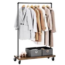 Schwerlast Kleiderständer Kleiderstange bis 90 kg mit Ablage Rollen HSR65BX
