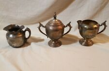Antique Silver Plated Tea Set FB Rodgers Silver on Copper & Hartford Silver Co.