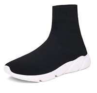 Mens Athletic Walking Shoes Socks Shoes High Top Casual Running Sport Sneakers