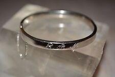 Vintage Signed B.A.B Sterling Silver Bangle Bracelet Monogrammed