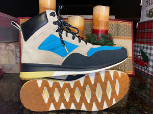 Cole Haan Grand 02 Men's Tan / Blue High Top Sneakers Lace Boots Sz 11 1/2 NEW