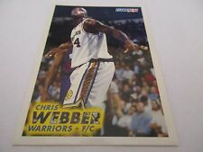 Carte NBA FLEER 1993-94 #292 Chris Webber Golden State Warriors