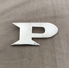 """RARE As New Incu Bold Letter """"P"""" Sterling Silver 925 Charm Pendant 4 NECKLACE"""