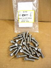8/25 - Scoket HD Cap Screws, Allen Hex Drive Stainless Steel Lot of 25  NEW