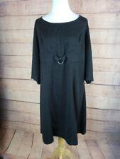 MAX STUDIO MSSP Plus Size 2X Charcoal Sheath Dress 3/4 Sleeve