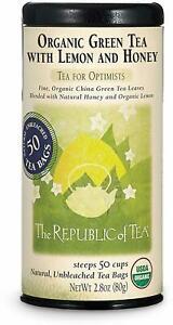Organic Lemon Green Tea with Honey by The Republic of Tea, 50 tea bag